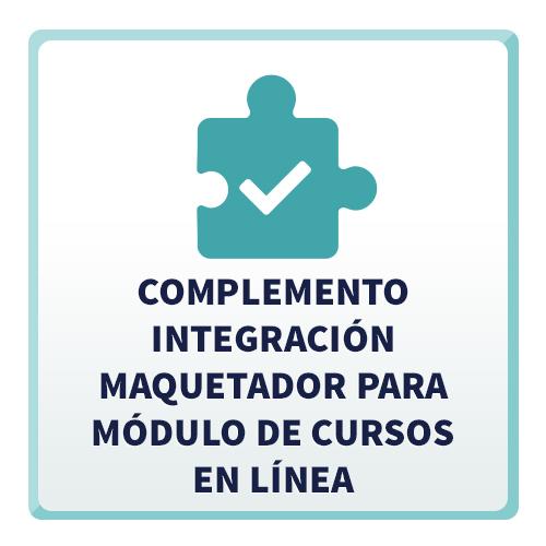 Complemento Integración Maquetador para Módulo de Cursos En Línea